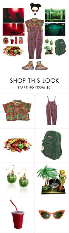 """RED // GREEN"" by treasureforever ❤ liked on Polyvore featuring Dr. Martens"
