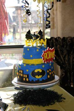 Batman Birthday Party/ Superhero Party cake