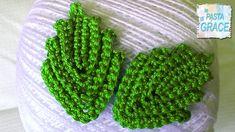 SACCHETTO A UNCINETTO N. #3 FOGLIA CLASSICA Fleur Crochet, Irish Crochet, Knit Crochet, Crochet Leaves, Crochet Flowers, Amigurumi Tutorial, Crochet Videos, Crochet Crafts, Green Beans