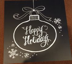 Happy Holidays Chalkboard Sign by BeautifullyChalked on Etsy