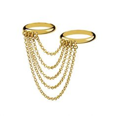 ¡Señala con el dedo! Los anillos midi son el accesorio must Anillo con cadena de Aristocrazy