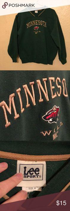 Minnesota Wild V-Neck Sweatshirt Cozy MN Wild sweatshirt - in great shape, only worn a few times! Tops Sweatshirts & Hoodies