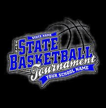 dfec0f93 Cricket School & Team- Custom High School State Basketball T-Shirt Design  for Students