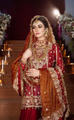 Asian Bridal Dresses, Bridal Mehndi Dresses, Desi Wedding Dresses, Asian Wedding Dress, Bridal Dress Design, Bridal Outfits, Beautiful Pakistani Dresses, Pakistani Dresses Casual, Pakistani Wedding Outfits