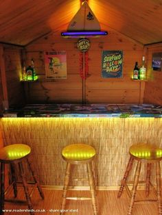 Lodge's Tiki Bar, Pub/Entertainment from Wakefield owned by Stephen Outdoor Sheds, Outdoor Rooms, Outdoor Living, Deck Bar, Pool Bar, Backyard Bar, Backyard Retreat, Tikki Bar, Party Shed