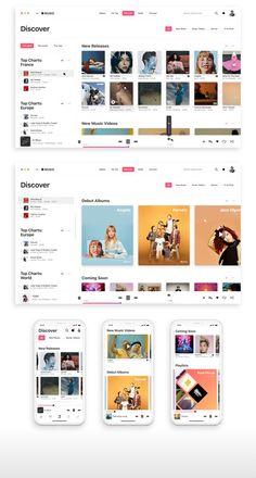 In-depth design proposal for a slightly better app. App Ui Design, Dashboard Design, User Interface Design, Design Web, Dashboard Ui, Graphic Design, Website Design Inspiration, Ui Inspiration, Music Website Templates