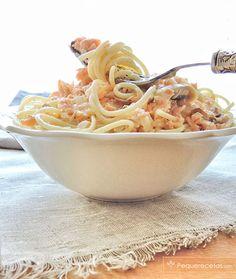pasta con salmón receta