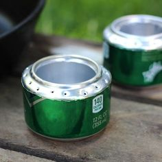 Another wild DIY mini stove.  This one uses a beverage can.