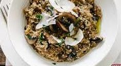 Kinoa- keep them risotto - Samantha Home Risotto, Asparagus, Rice, Chicken, Meat, Food, Studs, Hoods, Meals