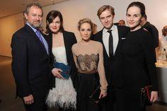 Left to right: Michelle Dockery, Dan Stevens, Joanne Froggat, Elizabeth McGovern, and Hugh Bonneville