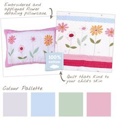 flower garden pillows
