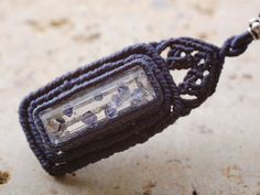 fluorite in quartz pendant