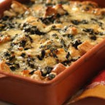 Spinach and Cheese Overnight Strata.