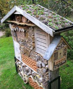 marigolds in garden Bienenhotel Marigolds In Garden, Garden Bugs, Garden Art, Herb Garden, Bug Hotel, Terrace Design, Garden Design, Jardin Decor, Garden Animals