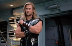Chris Hemsworth. Look at those arms. He can save me from anything, any time he likes.