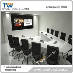 Brand new triangle conference table With Professional Technical Support