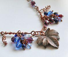 Copper grapes necklace by VeraNasfa, $49.00