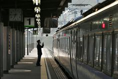Station Attendent in Muroran, Hokkaido by lothes19, via Flickr