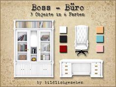 Boss office by Bildlichgesehen at Akisima via Sims 4 Updates