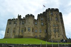 Alnwick Castle was used for some of the Hogwarts exteriors, including the broomstick lessons.