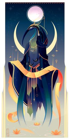 This French Artist Created 11 Beautiful Illustrations Of Ancient Egyptian Gods And Goddesses Goddess Art, Mythology Art, Illustration, Ancient, Fantasy Art, Egypt Art, Art, Greek Mythology Art, Egyptian Goddess