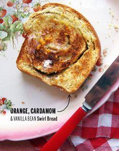 Orange Cardamom Swirl Bread // take a megabite