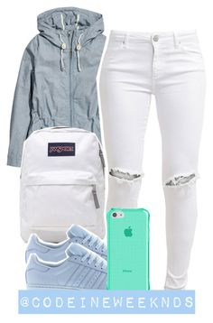 """11/23/15"" by codeineweeknds ❤ liked on Polyvore featuring H&M, JanSport, adidas and FiveUnits"