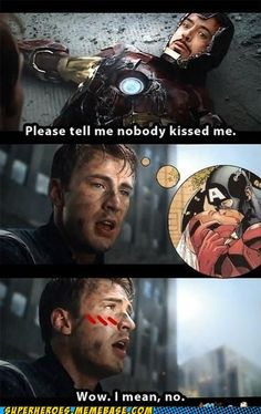 this scene tho. 'cause cap just kinda looked away and laughed & smiled