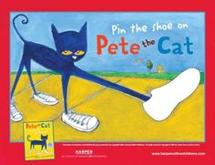 Pin the Shoe on Pete the Cat.