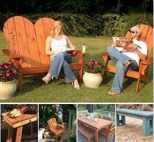 Free DIY Outdoor Furniture Plans - Download free plans and do it yourself guides. Build your own wooden porch, patio and backyard furniture. Find plans for Adirondack furniture, porch swings, picnic tables, garden benches, beach chairs, barbecue carts and much more.