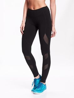 Mesh-Panel Compression Leggings (Old Navy)