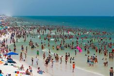 A Packed Beach in Florida USA