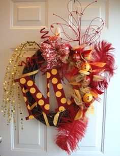 Iowa State Cyclones Wreath - a wreath would look good on your door! Secure it with a 3M hook that doesn't damage the door.