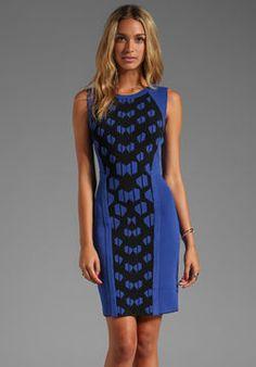http://elle.shopstyle.com: Diane von Furstenberg Franca Dress in Black/Vivid Blue