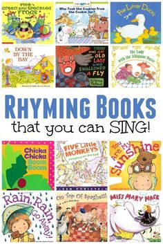 Rhyming Books that You Can SING! Rhyming Books that You Can SING! Have you ever noticed that music and literacy have such a strong connect. Kindergarten Music, Preschool Music, Preschool Literacy, Preschool Books, Early Literacy, Teaching Music, Teaching Resources, Literacy Centers, Rhyming Activities
