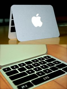 Cute card idea for my apple crazed person. BUT, you could also have a different type of computer on there too.