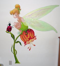 tinkerbell and friend mural