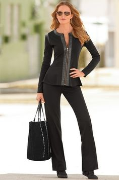 Boston Proper Ponte peplum warm-up #bostonproper.....A must have!