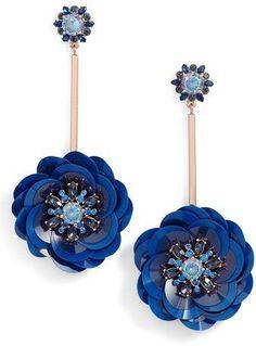 Kate Spade Women's Snowy Nights Sequin Drop Earrings