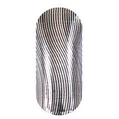 KOOKY Wavy Thin Lines Black & Silver Wraps