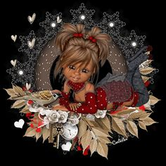 ✿GS✿⊱╮ Girly Pictures, Colorful Pictures, Pretty Pictures, I Believe In Angels, Little Designs, Anime Dolls, Christmas Scenes, Cute Little Girls, Cute Dolls