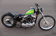 Ironhead Sportster hardtail custom with mexican blanket-style paint job