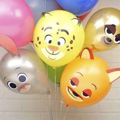 ¡Organiza una fiesta muy especial con estos divertidos globos hechos por ti e inspirados en los personajes de Zootrópolis!