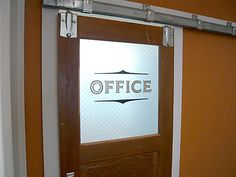 Image detail for -Office Door Hanging on Barn Rail
