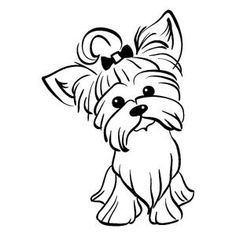 Yorkshire Terrier Dog, Biewer Yorkshire, Terrier Breeds, Terrier Dogs, Dog Stencil, Yorkie Dogs, Yorkies, Dog Art, Animal Drawings