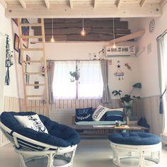 コンパクトハウス/モンステラ/夏のディスプレイ/カリフォルニアスタイル/カリフォルニアインテリアに憧れる…などのインテリア実例 - 2016-08-28… Dream Beach Houses, Single Bedroom, Nautical Home, Tiny Spaces, Small Living Rooms, Simple House, Room Interior, Interior Architecture, Decor Styles