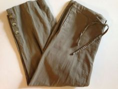 Columbia Women's Medium Olive Green Pants Outdoors Cropped #Columbia #Linen