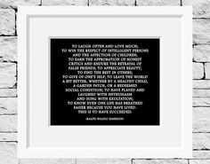 Ralph Waldo Emerson Quote Life Quote Success by IDefineMeProject