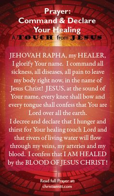 Prayer: Command and Declare Your Healing