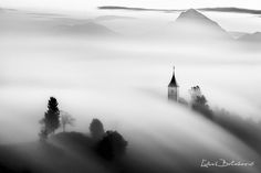 In the clouds - Amazing morning in Slovenin Alps . Black White Photos, Black And White, Long Exposure, National Geographic Photos, Daily Photo, Landscape Photos, Photo Contest, The World's Greatest, Amazing Photography